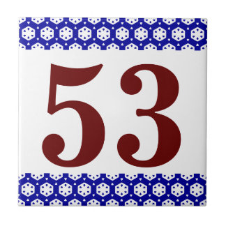 Number Tile octagonal border