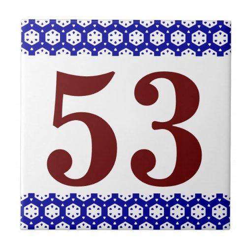 Number Tile octagonal border