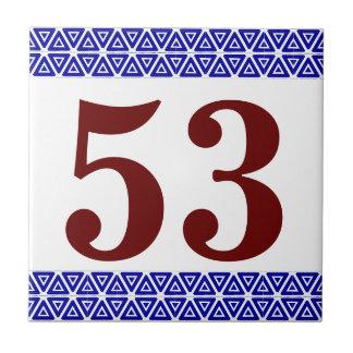 Number Tile triange border