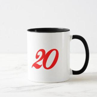 Number Twenty 20th Birthday Gifts Mug