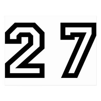 Number Twenty Seven Postcard