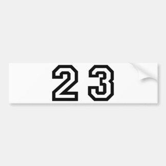 Number Twenty Three Bumper Sticker