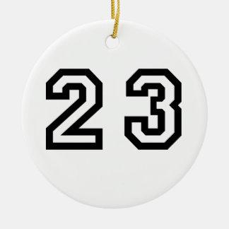 Number Twenty Three Round Ceramic Decoration