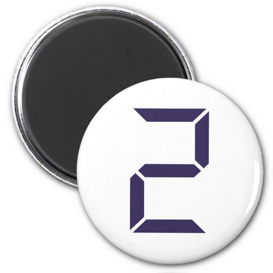 Number - Two - 2 Magnet