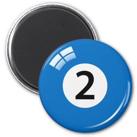 Number two billiard ball fridge magnet