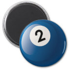 NUMBER TWO BILLIARDS BALL MAGNET