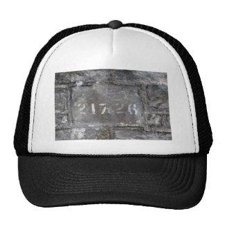 Numbered brick cap