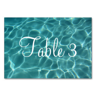 Numbered Swimming Pool Card