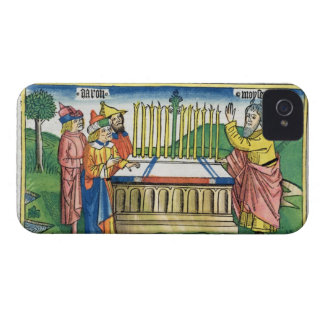 Numbers 17 1-11 Aaron's staff blooms on the altar, iPhone 4 Case-Mate Cases