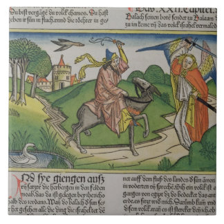 Numbers 22 20-35 Balaam's talking ass, from the 'N Large Square Tile