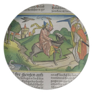 Numbers 22 20-35 Balaam's talking ass, from the 'N Plate