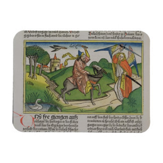 Numbers 22 20-35 Balaam's talking ass, from the 'N Rectangular Photo Magnet