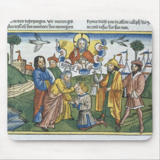 Numbers 27 18-23 Moses lays his hand upon Joshua, Mouse Pad