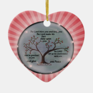Numbers 6:24-26 Lord Bless You and Keep You Peace Christmas Ornament