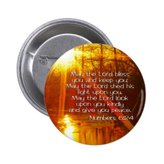 NUMBERS 6:24 BIBLE VERSE - MAY THE LORD BLESS YOU 6 CM ROUND BADGE
