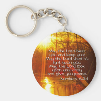 NUMBERS 6:24 BIBLE VERSE - MAY THE LORD BLESS YOU BASIC ROUND BUTTON KEY RING