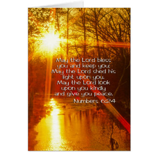NUMBERS 6:24 BIBLE VERSE - MAY THE LORD BLESS YOU GREETING CARD