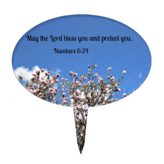 Numbers 6:24 May the Lord bless you.... Cake Toppers