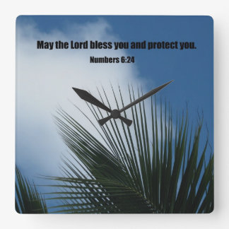 Numbers 6:24 May the Lord bless you.... Wallclock