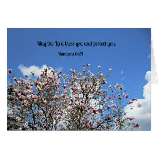 Numbers 6 24 May the Lord bless you Greeting Cards