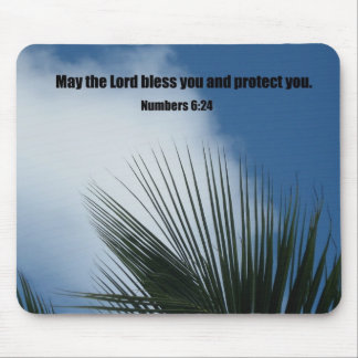 Numbers 6 24 May the Lord bless you Mouse Pads