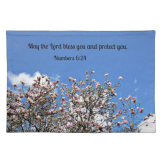 Numbers 6 24 May the Lord bless you Placemats