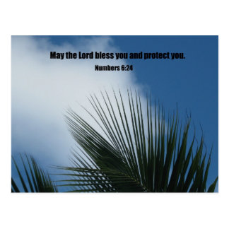 Numbers 6:24 May the Lord bless you.... Post Cards