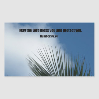 Numbers 6:24 May the Lord bless you.... Rectangular Sticker