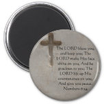 Numbers 6:24 UPLIFTING BIBLE VERSE with cross Fridge Magnet