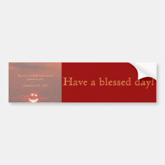 Numbers 6:25 Smiley Face Bumper Sticker