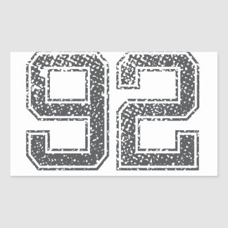 Numbers Gray_92.png Rectangular Sticker