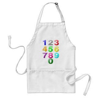 Numbers Image Apron