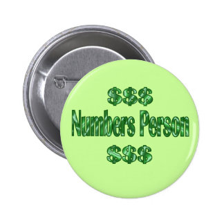 Numbers Person 6 Cm Round Badge