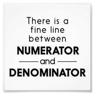 Numerator and Denominator Photo Print