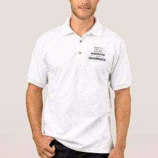 Numerator and Denominator Polo Shirts