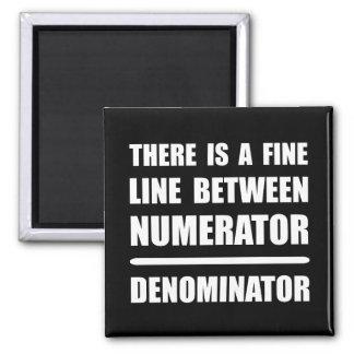 Numerator Denominator Square Magnet