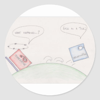 Numerator Vs Denominator Round Sticker