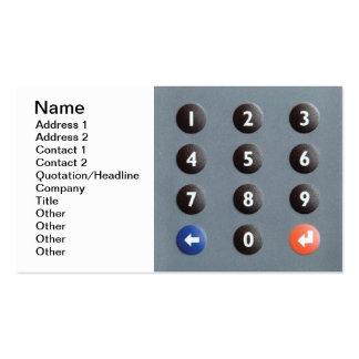 Numeric keypad business card