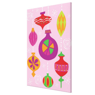 Numerous Christmas decoration illustrated in diffe Gallery Wrapped Canvas