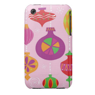 Numerous Christmas decoration illustrated in diffe iPhone 3 Cover