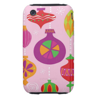 Numerous Christmas decoration illustrated in diffe iPhone 3 Tough Case