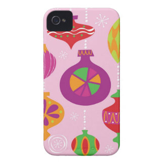 Numerous Christmas decoration illustrated in diffe iPhone 4 Case