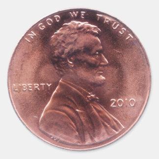 Numismatic Gift Classic Round Sticker
