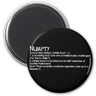 Numpty 6 Cm Round Magnet