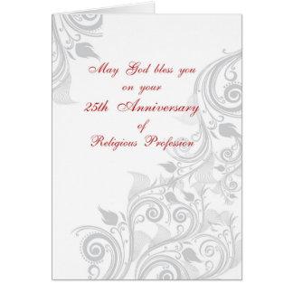 Nun 25th Anniversary Religious Profession, Life Card