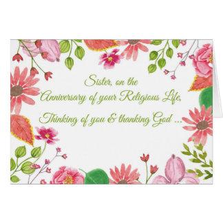 Nun, Anniversary of Religious Life, Watercolor-Loo Card
