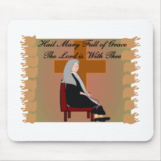 """Nun Cards and Gifts """"Hail Mary"""" Prayer Mouse Pad"""