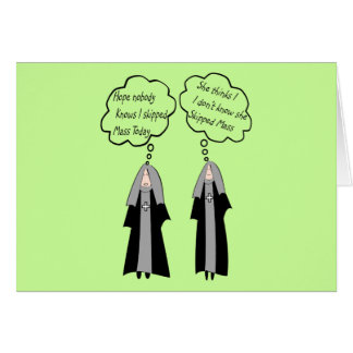 "Nun Cards ""Things Nuns Think About"" Funny"