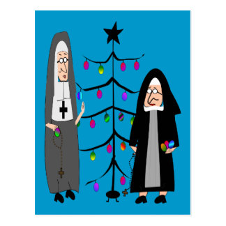 "Nun Gifts ""Decorating The Christmas Tree"" Postcard"