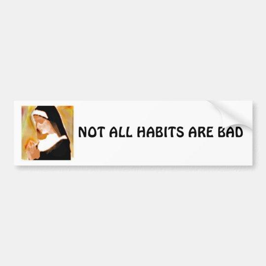 Nun Habits Bumper Sticker